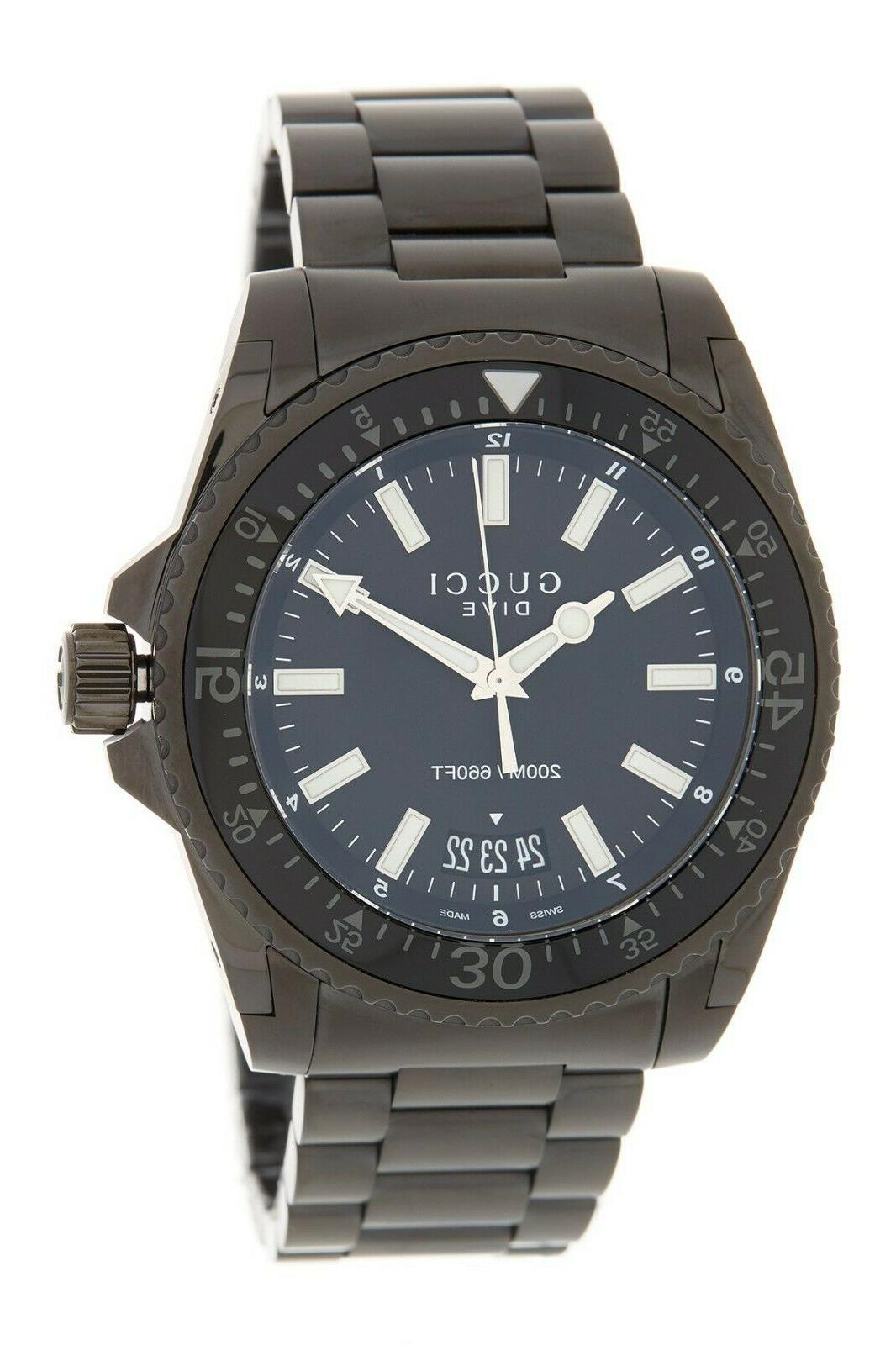 authentic bnwt dive black dial stainless steel