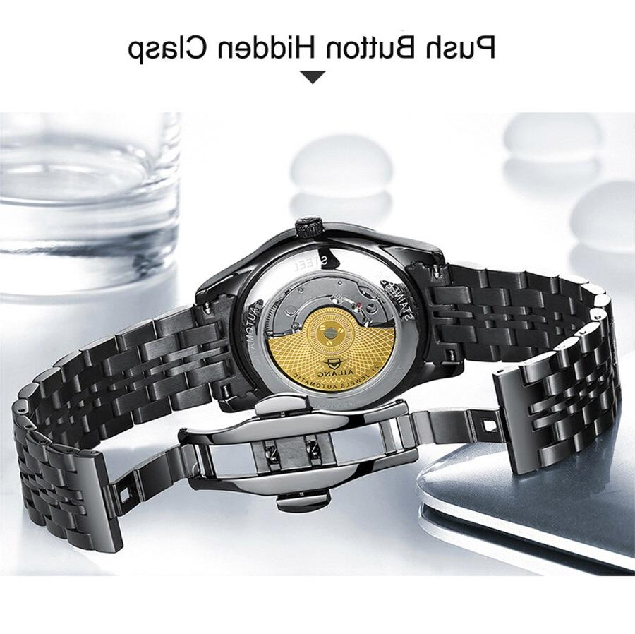 AILANG <font><b>Watch</b></font> Stainless <font><b>Wrist</b></font> <font><b>Watch</b></font> <font><b>Dive</b></font> 50M Clock Male