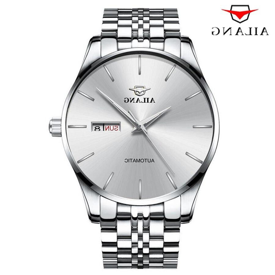 AILANG Automatic <font><b>Men</b></font> Stainless strap Business <font><b>Wrist</b></font> Fashion Clock Male