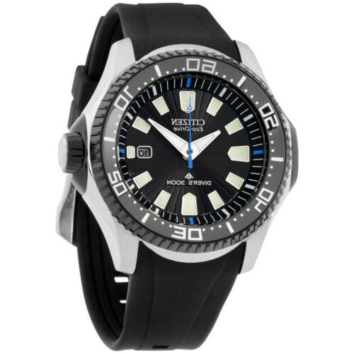Citizen Men's Eco-Drive Diver Watch with Date, BN0085-01E