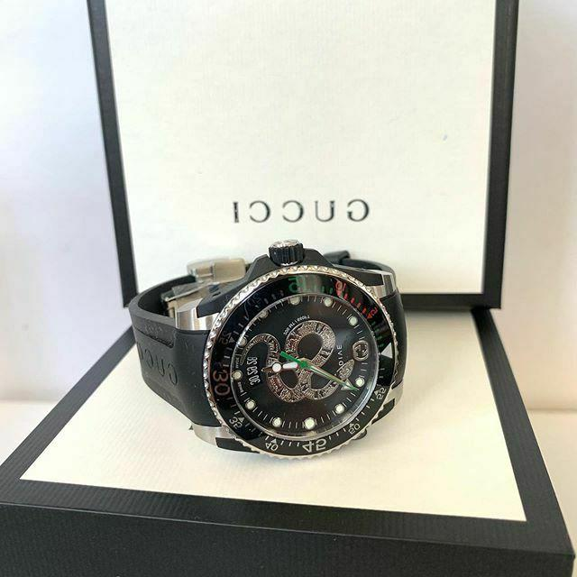 BRAND !!Gucci Black Strap 40mm Men's YA136323