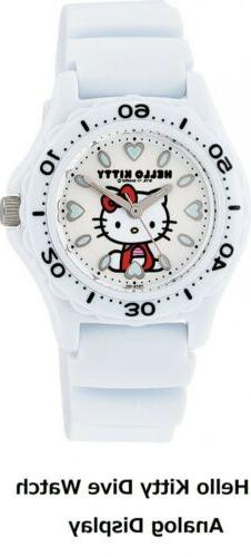 CITIZEN Q&Q Hello Kitty Sanrio Japan Dive Watch White Analog