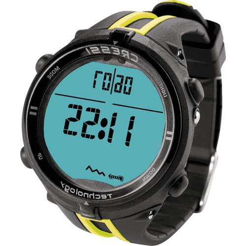 cressi newton dive computer watch black yellow