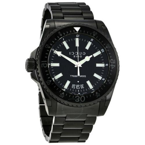 dive black dial stainless steel men s