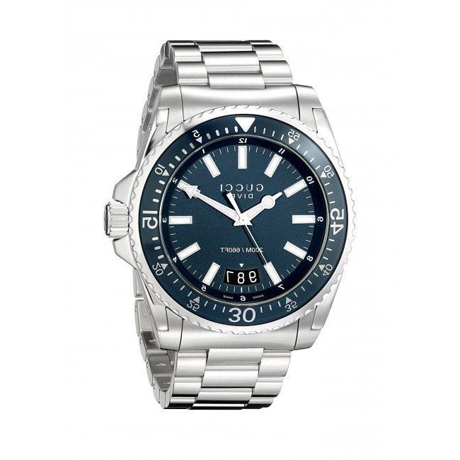dive blue dial stainless steel men s
