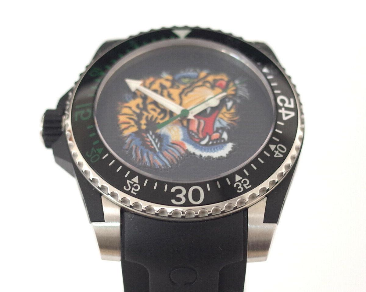 Gucci Embroidered Motif Men's Watch