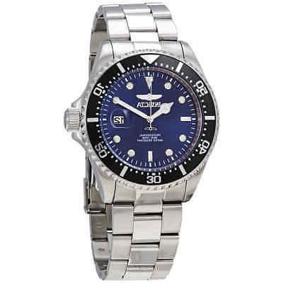 diver 22054 blue dial stainless