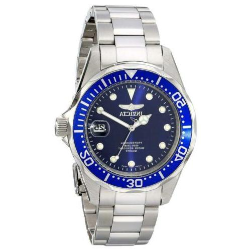 Invicta Men's Diver Dark Blue Dial Stainless Steel