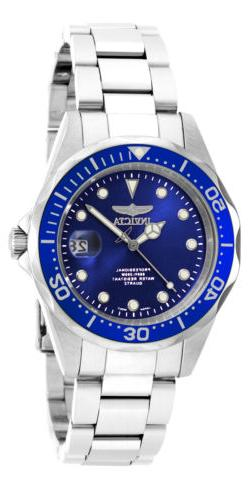 Invicta Men's Pro Diver Dark Blue Dial Stainless Steel