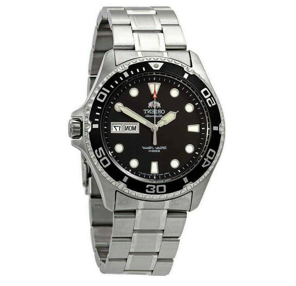 diver ray ii automatic black dial men