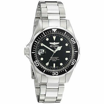 diver stainless steel black dial