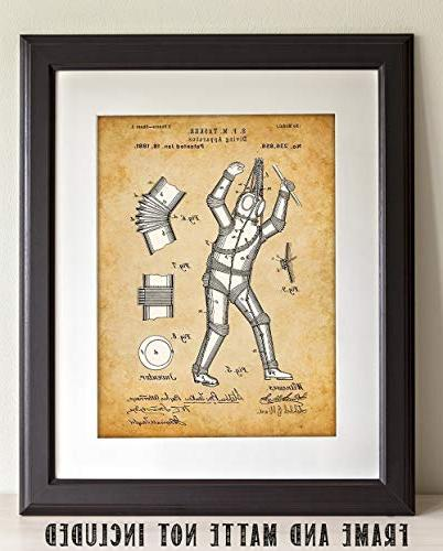 Diving - Unframed Patent Print Great for Divers