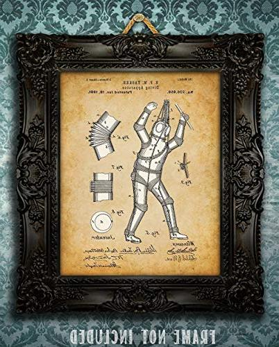 Diving - 11x14 Unframed Patent Great Gift Scuba Divers