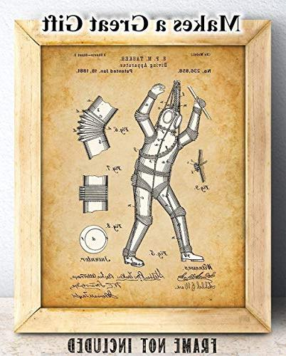 Diving Apparatus Unframed - Great Gift