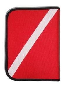 Scuba Diving Log Book - Red Cordura Diver Down Flag Three-Ri