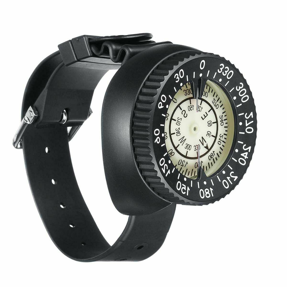 Diving Compass Gauge Wrist Band Scuba Underwater