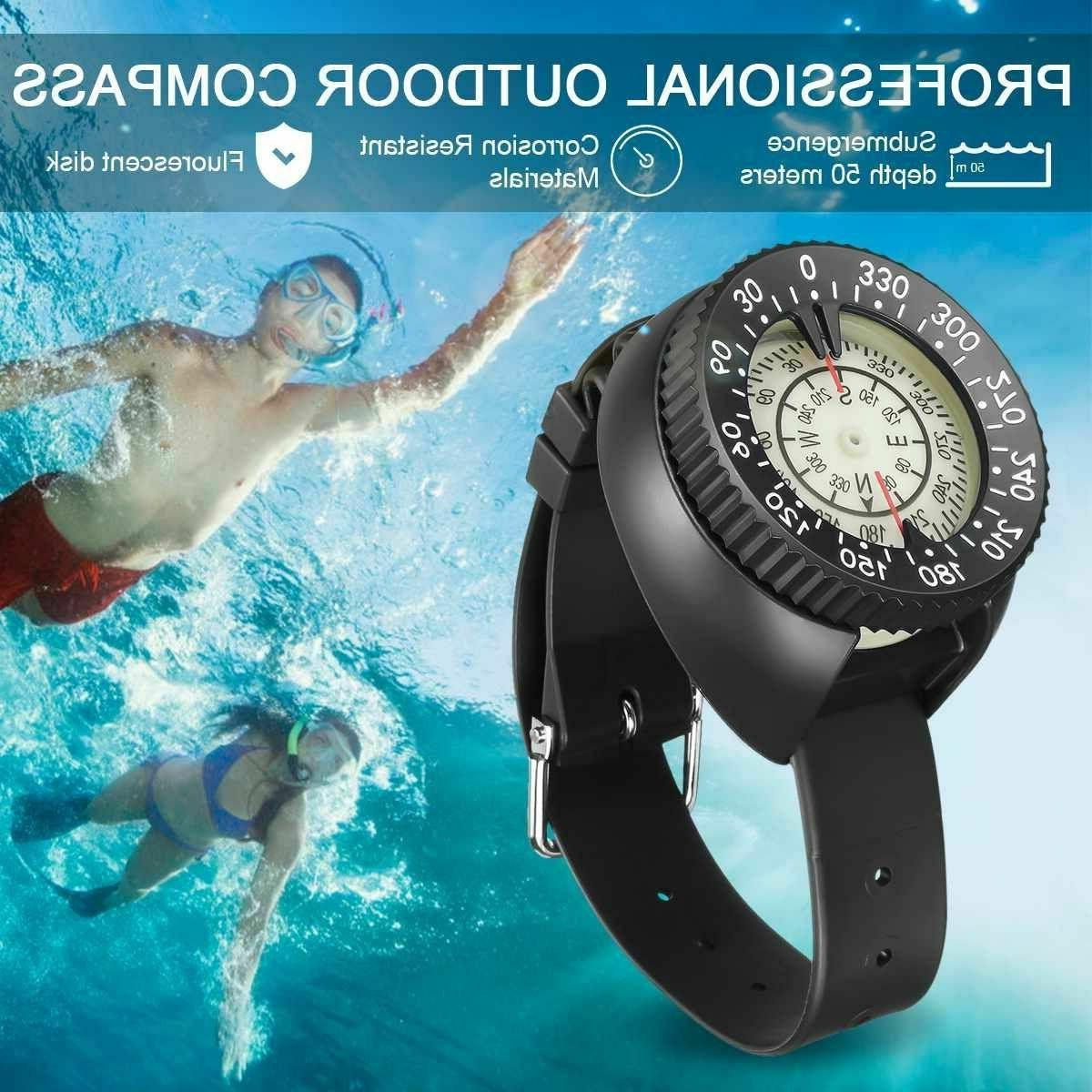 diving watch compass gauge wrist band scuba