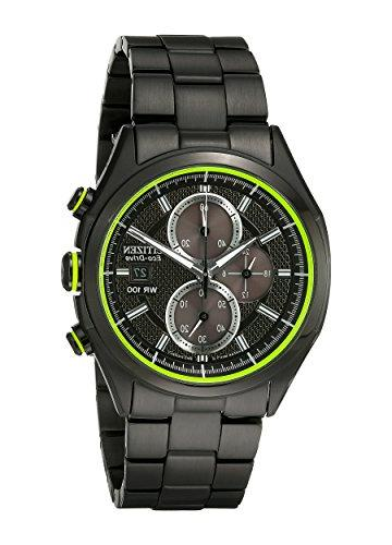 Drive Citizen Men's Plated Chronograph Watch CA0435-51E
