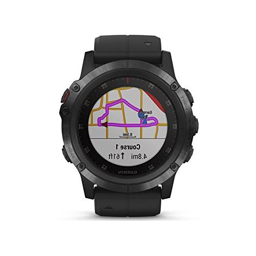 Garmin 010-01989-00 Plus, Multisport GPS Smartwatch, TOPO Maps Heart Monitoring, and Pay, Black Band