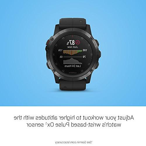Garmin Plus, Ultimate Smartwatch, Features Maps and Heart Rate and Pay, Black Band