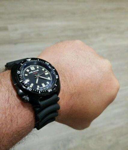 Detroit Matte Black Band NH35A Automatic 6105 Dive Watch
