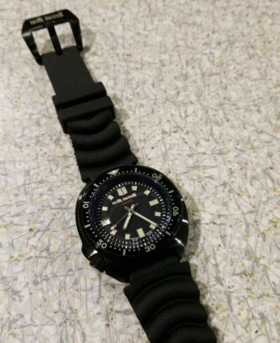 islander matte black diver band nh35a automatic