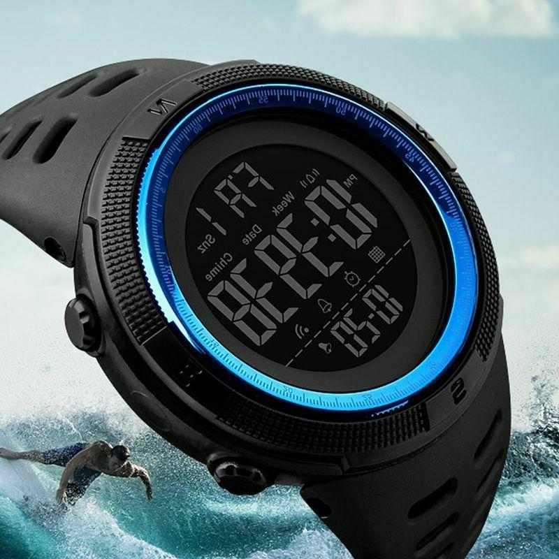 sports watches dive 50m digital led casual