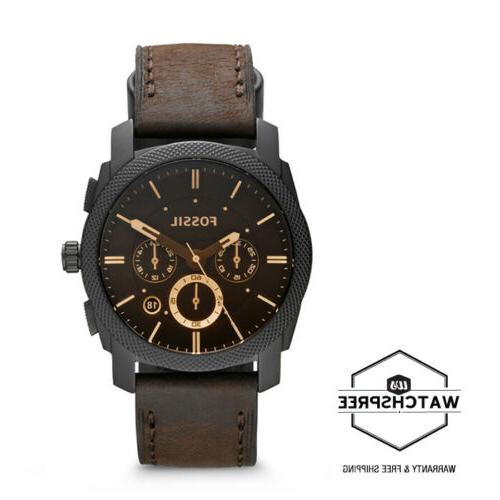 Fossil Brown Men's Leather Watch FS4656