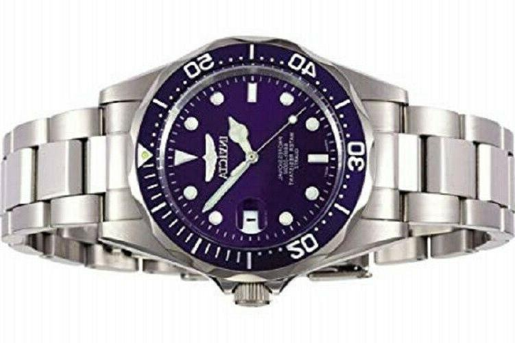 Invicta 9204 Blue Dial Pro Diver Silver-Tone Watch - in Box