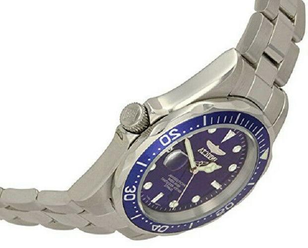 Invicta Blue Dial Silver-Tone New in
