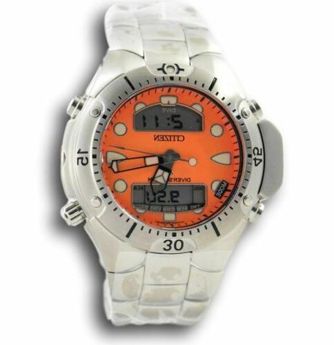 Citizen Men's Aqualand JP1060-52Y Orange Stainless Diving