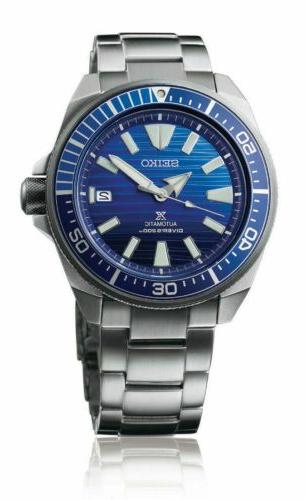 Seiko Mens Prospex Samurai Save The Ocean Stainless Steel Bl