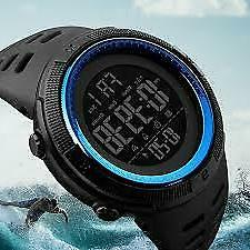 Mens Sports Dive 50m Digital LED Military Casual Electronics