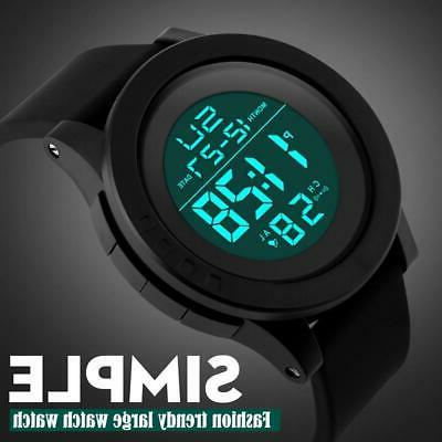 mens sports watches electronic watch dive 50m