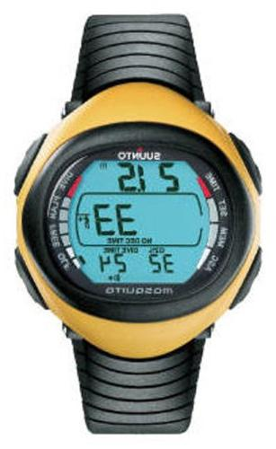 mosquito wrist top dive computer watch yellow