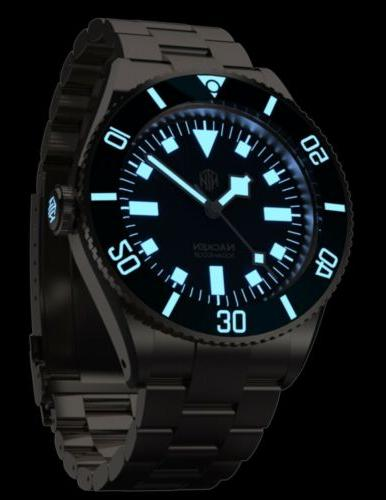 NTH Modern Blue Automatic Dive Watch No Date