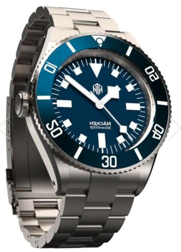 nacken modern blue automatic dive watch no
