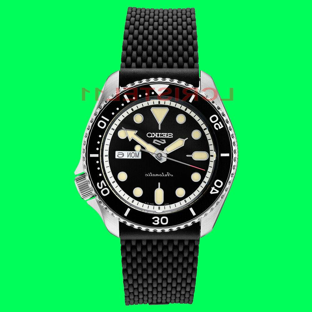 new 5 mens black dial dive watch