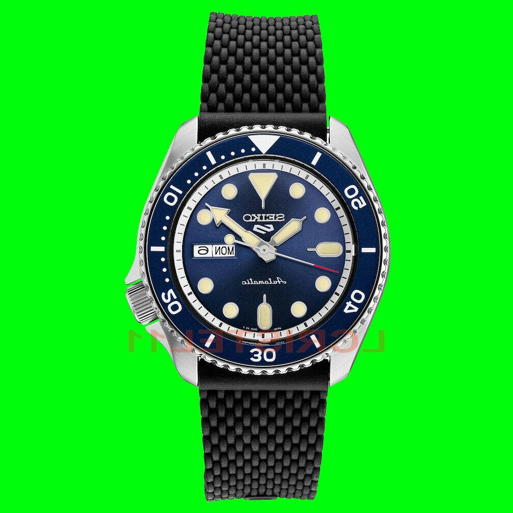 new 5 mens blue dial dive watch