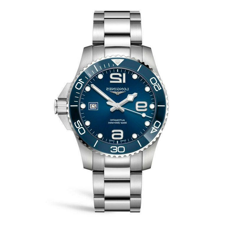 new hydroconquest blue dial automatic men s