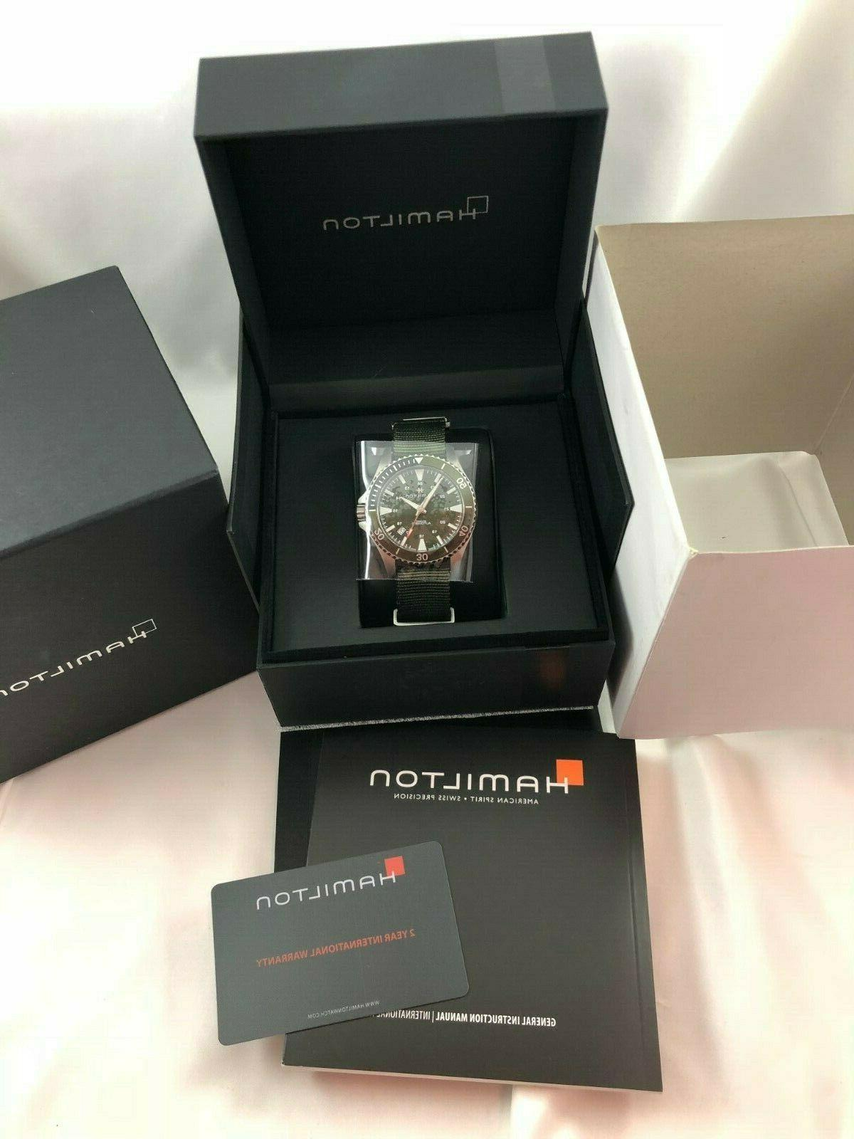 New Hamilton Scuba Auto Watch H82375961 w/ Box Papers
