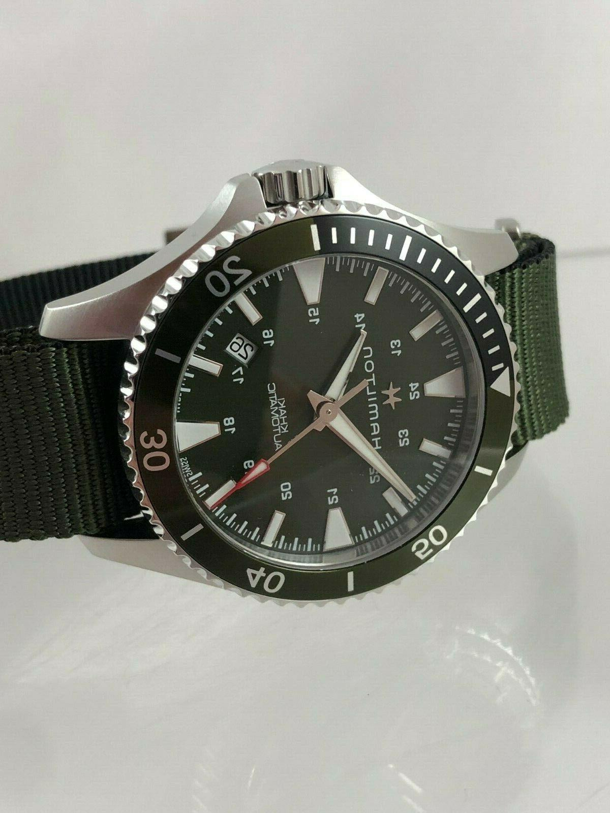 New Hamilton Khaki Scuba Dive-Style Watch H82375961 Papers