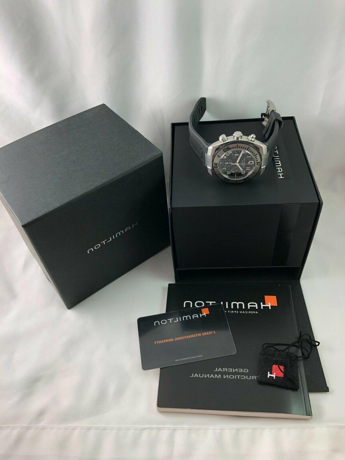New Hamilton Sub Chrono H78716333 Dive Watch w/ +
