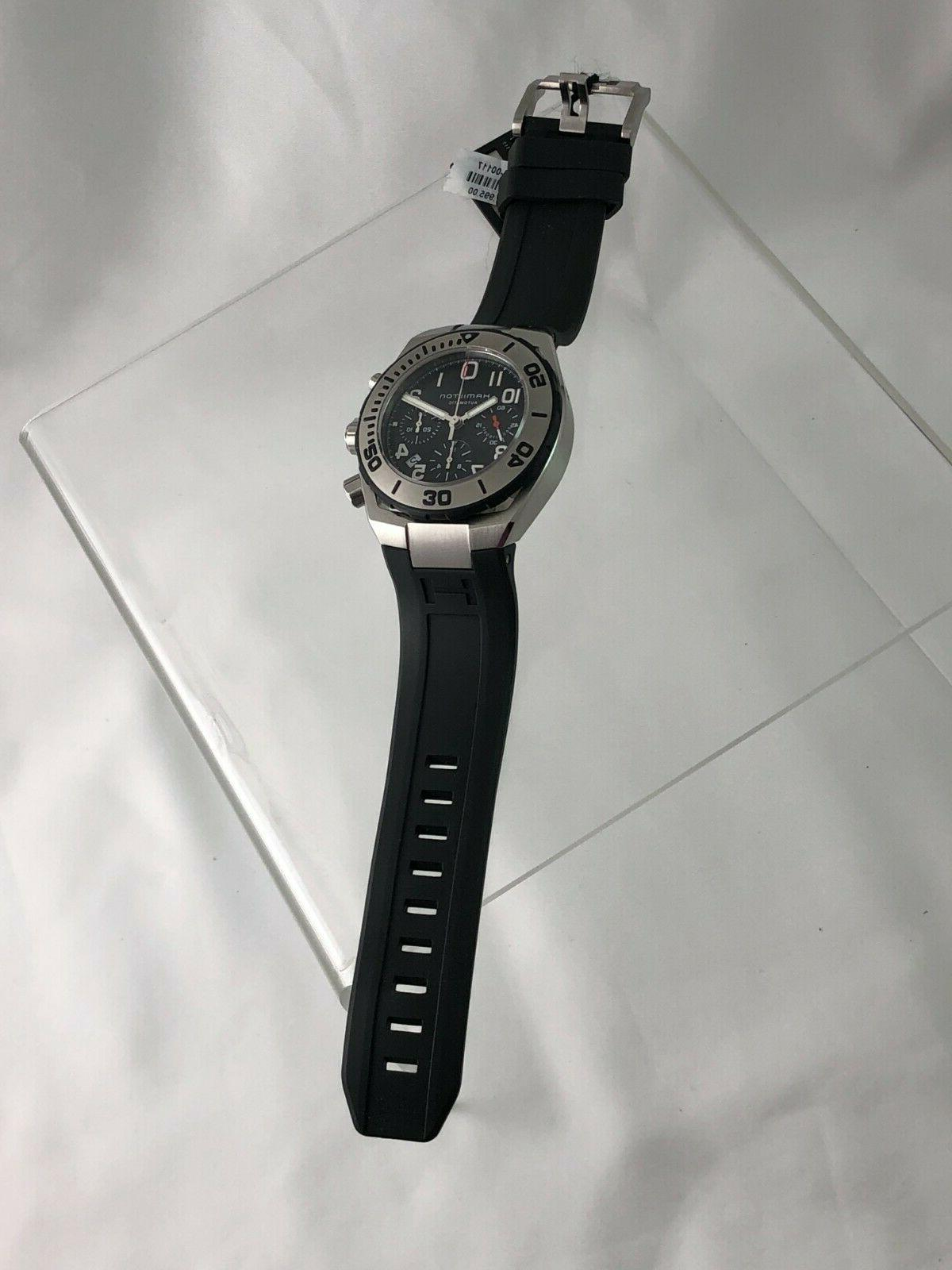 New Hamilton Navy Sub Auto Chrono Dive Watch w/ + Papers