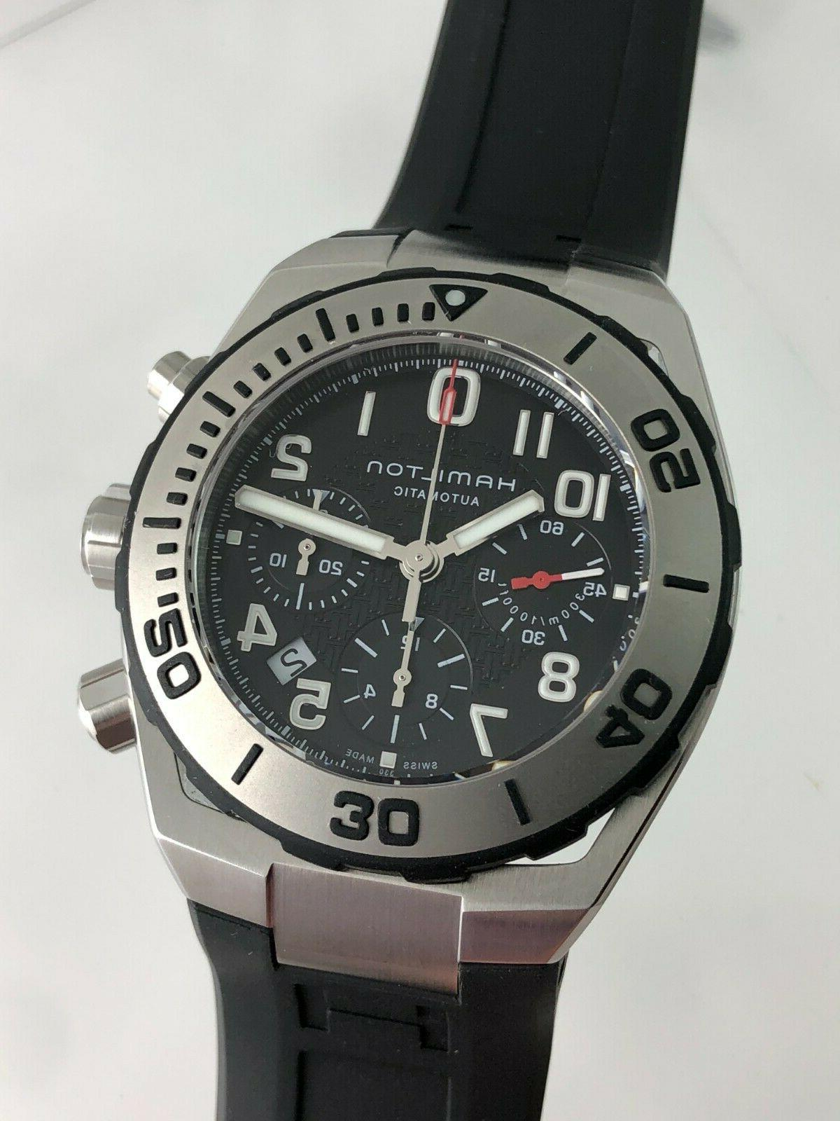 new khaki navy sub auto chrono h78716333