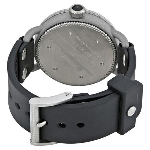 Nixon October A488000 Black Rubber Watch