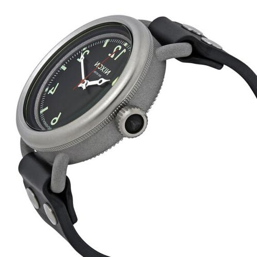 Nixon Men's October Black Rubber Quartz Watch