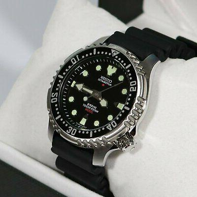 promaster sea automatic dive black dial watch