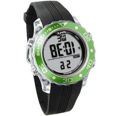 Pyle Sport PSNKW30GN New Diving Watch W/ Dive Duration & Dep