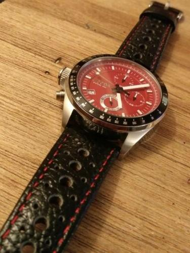 Rare RED Chronograph Mens DIVE Watch